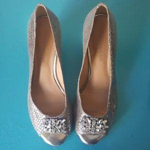 Antonio melani wedge heels bling